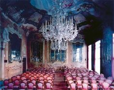 Candida Hofer // Ca' Dolfin Venezia Beautiful Architecture, Interior Architecture, Fine Art Photography, Landscape Photography, Marilyn Minter, Murano Chandelier, Chandeliers, Pretty Lights, Dream Decor