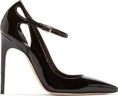Brian Atwood - Black Patent Leather Marisa Pump
