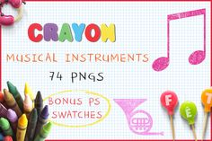 Download Crayon Musical Instruments @creativework247