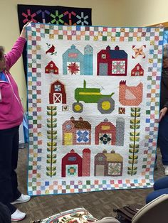 My tractor quilt....using some blocks from Farm Girl Vintage .