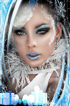 Fantasy Art Women, Beautiful Fantasy Art, Beautiful Gif, Fantasy Girl, Beautiful Women, Lovely Girl Image, Glitter Graphics, Animation, Digital Art Girl