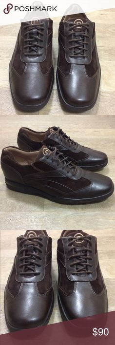Rockport Brown Leather Oxford Size 10.5 Size 10.5 Color: Brown/Brown Rockport Shoes