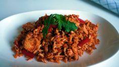 Healthy Paprika Chicken Fried Rice - Weight Watchers Friendly