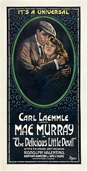 The Delicious Little Devil is a 1919 American silent comedy-drama film starring Mae Murray and Rudolph Valentino. A 35 mm print of the film is housed at the EYE Film Instituut Nederland,[1] Nederlands Filmmuseum.