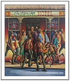 Australian Art, Oil On Canvas, Studios, Cartoons, Decor Ideas, Paintings, Watercolor, Baseball Cards, Pen And Wash
