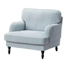 STOCKSUND Chair, Remvallen blue/white, black/wood - Remvallen blue/white - black - IKEA
