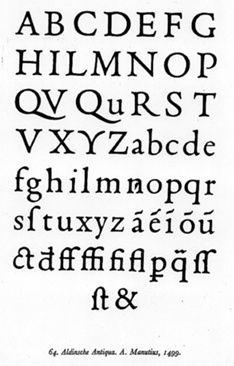 """Francesco Griffo   Uno specimen di carattere """"aldino"""" di Francesco Griffo (1499)"""
