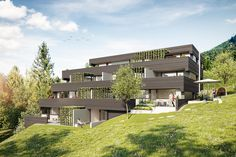 Wohnanlage Kehrstrasse Feldkirch | Atelier Ender | Architektur Style At Home, Feldkirch, Tropical Houses, Mansions, House Styles, Outdoor Decor, Ideas, Home Decor, Patio