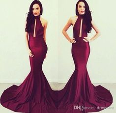 Michael Costello Evening Gowns Elegant Burgundy Women Long Evening Dresses | Buy Wholesale On Line Direct from China