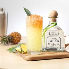 Enjoy Electric Coconut, a cocktail made with @Patrón Silver, Coconut Water, Pineapple Juice, Lemon Juice and Orange Bitters