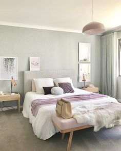23 Pastel Bedroom for Graceful and Calm Atmosphere in Your Private Space Bedroom Color Schemes, Bedroom Colors, Dream Bedroom, Home Decor Bedroom, Bedroom Ideas, Bedroom Inspo, Bedroom Scene, Serene Bedroom, Bedroom Décor
