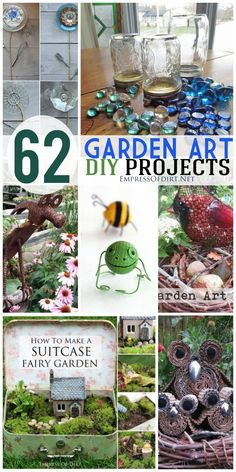 62 DIY Garden Art Projects using repurposed and recycled materials