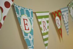 free printable - be merry bunting
