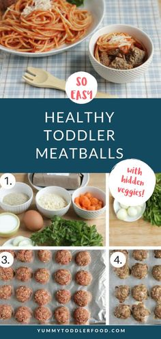 Best Healthy Meatball Recipe (with Hidden Veggies) Are you looking for ways to sneak hidden vegetables into your toddler's food? Then this is the recipe for you! Our Healthy toddler meatballs with hidden veggies are a sure hit with your family! Hidden Vegetables, Healthy Vegetables, Toddler Vegetables, Vegetables For Babies, Healthy Toddler Meals, Kids Meals, Toddler Dinners, Toddler Lunches, Healthy Recipes For Toddlers