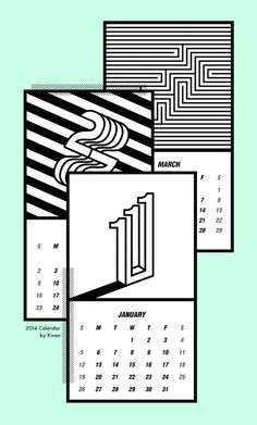 Illusion Calendar https://www.behance.net/gallery/illusion-calendar-2014/13948499
