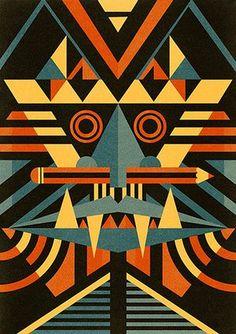 Ben Newman: Mask print by Ben Newman
