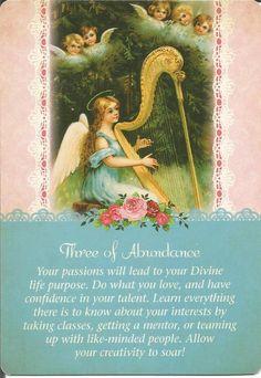 3 of Abundance, Guardian Angel Tarot, Doreen Virtue