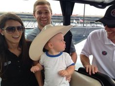 Dad, don't bother me! I am talking country music with Aunt @Danica Patrick and Uncle @Ricky Stenhouse Jr 09/01/13