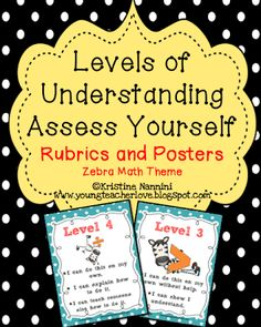 Young Teacher Love: The Art and Science of Teaching Posters and Rubrics. self assessment 4th Grade Classroom, Middle School Classroom, Classroom Procedures, Classroom Ideas, Classroom Routines, Classroom Management, Kindergarten Rubrics, Student Data Tracking, Teaching Posters