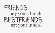 lol this is so funny because I always eat my best friends food at work, especially when she's on vacation.