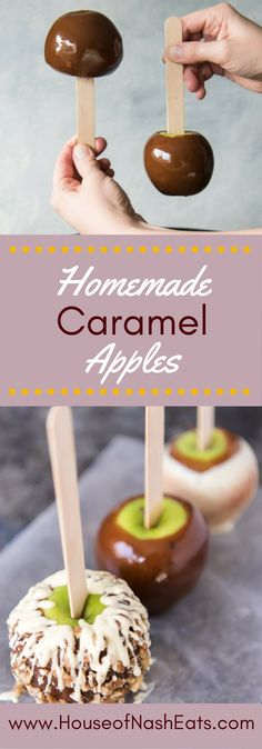 Gourmet Homemade Caramel Apples are so easy and fun to make! When the sweet, buttery caramel gets paired with crisp, tart apples and then topped with as many crunchy, chewy, nutty or crispy toppings as you want, you will have confection perfection! Great for a DIY gift or party favor!