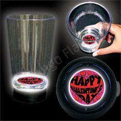 Valentine's Day LED Bottom Lit Cup - Bongo Flashers