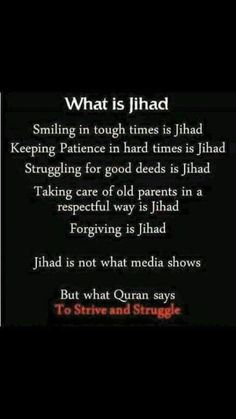 Islam says the best Jihad is the struggle within yourself to be a better person. Check the Quran and see. Islamic Love Quotes, Muslim Quotes, Islamic Inspirational Quotes, Religious Quotes, Islam Hadith, Islam Muslim, Islam Quran, Alhamdulillah, Muslim Faith
