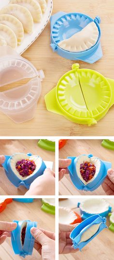 Dumplings made easy with this mold
