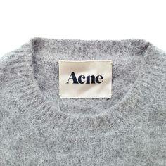 Acne Studios, Acne label, Acne branding, garment label, clothing label…