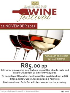 Join us at 11 November Wine Festival, November 2015, Festivals, Wines, Wine Glass, Join, Tableware, Dinnerware, Tablewares