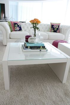 A well-styled IKEA coffee table can go a long way. EXPEDIT, $59.99
