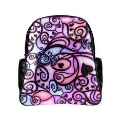Heart Beats Singing Multi-Pockets Backpack (Model 1636)