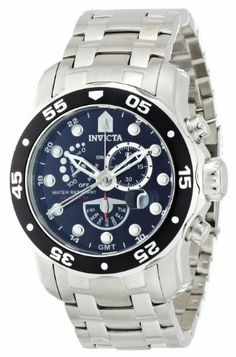 Invicta Men's 6086 Pro Diver Collection Power Reserve Stainless Steel Watch Invicta. $129.74. Black dial with silver tone hands and hour markers; luminous; black unidirectional bezel; magnified date window. Swiss quartz movement. Water-resistant to 330 feet (100 M). Durable mineral crystal; brushed and polished stainless steel case and bracelet. 60 second, day of the week and power reserve sub-dials, date function. Save 84% Off!