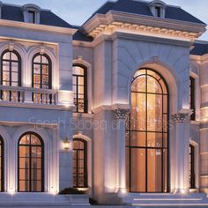 villa doors increase the elegance of your home. We have searched the most beautiful villa door models for you, Take a look at the models below to get . Architecture Design, Modern Architecture House, Facade Design, Roof Design, Exterior Design, Classic House Exterior, Classic House Design, Dream House Exterior, Modern House Design