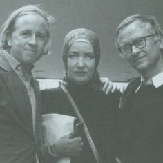 David and Albert Maysles with Edith 'Little Edie' Bouvier Beale at the premiere of Grey Gardens in 1976 at the Paris Theater in Manhattan