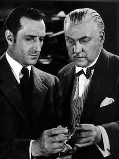 Their partnership is one of the most recognizable double acts in cinema history. Basil Rathbone and Nigel Bruce! as Sherlock Holmes and Dr Watson xo Sherlock Holmes Stories, Sherlock Holmes Benedict, Sherlock John, Jim Moriarty, Benedict Cumberbatch, Hollywood Actor, Classic Hollywood, Hollywood Stars, Hund Von Baskerville