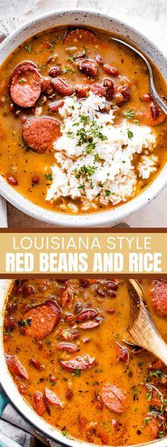 Louisiana Recipes, Cajun Recipes, Bean Recipes, Rice Recipes, Pork Recipes, Dinner Recipes, Cooking Recipes, Healthy Recipes, Healthy Southern Recipes