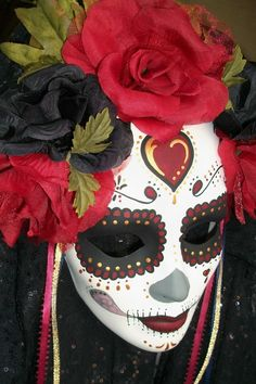 Day of the Dead Mask - This is a Cultural Celebration.....not a Halloween costume.