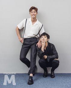 Kang Ha Neul and Park Seo Joon for M. Asian Actors, Korean Actors, Baek Jin Hee, Kang Haneul, Park Hyung, Song Joong, Kim So Eun, Park Seo Joon, Park Bo Gum