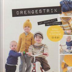 Fin strikkebog med strik til drenge