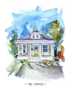 Custom House Portrait   Custom Portrait   by Coconuttowers on Etsy, $150.00