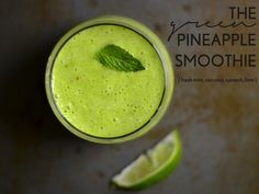 Coconut pineapple mint smoothie. This smoothie celebrates summer by putting seasonal fruits in the spotlight. It's accompanied by unique flavors that also pump up the healthiness factor.