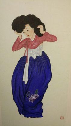 제6회 대한민국 전통채색화 공모대전 입상작과 특별 초대작가전 : 네이버 블로그 Real Life, Snow White, Disney Characters, Fictional Characters, Folk, Korea, Culture, Costumes, History