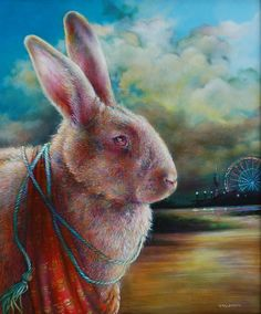 Carnival - Animal Art oil paintings by Wendy Vaughan