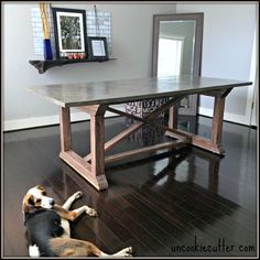All the details on how to make a concrete dining table, even if you are a concrete newbie like me! UncookieCutter.com