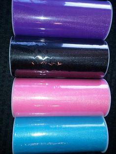 4 #tulle spool Lot only $6.72! #purple #black #hotpink #turquoise #tutu #costume #decoration #deanascrafts