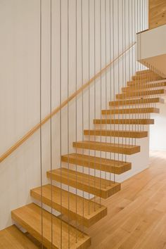 By popular request - the wire/rod suspended open staircase.