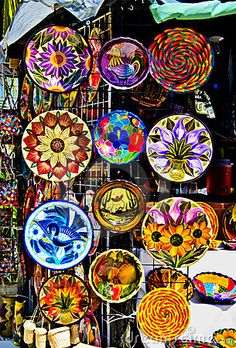 colorful pottery mexico - Google Search