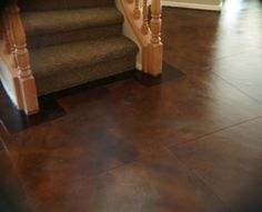 stained concrete floor! This is exactly the color I want!