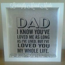 Fathers day gift present dad daddy vinyl box frame shadow box birthday | eBay